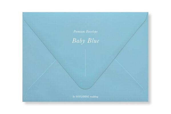 ซองการ์ดแต่งงาน สีฟ้า แบบพรีเมียม ทรงยุโรป แบบมาตรฐาน ใส่การ์ดแต่งงานขนาด 5x7 4x6 4x9