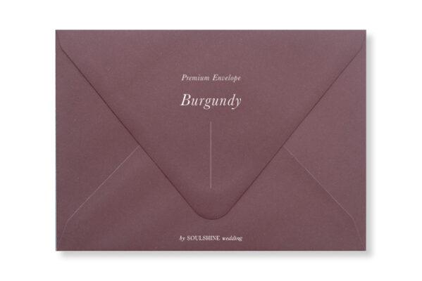 ซองการ์ดแต่งงาน สีแดง เบอร์กันดี Burgundy แบบพรีเมียม ทรงยุโรป แบบมาตรฐาน ใส่การ์ดแต่งงานขนาด 5x7 4x6 4x9