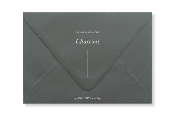 ซองการ์ดแต่งงาน สีเทาเข้ม Charcoal แบบพรีเมียม ทรงยุโรป แบบมาตรฐาน ใส่การ์ดแต่งงานขนาด 5x7 4x6 4x9