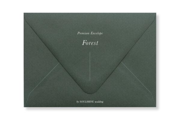 ซองการ์ดแต่งงาน สีเขียวเข้ม แบบพรีเมียม ทรงยุโรป แบบมาตรฐาน ใส่การ์ดแต่งงานขนาด 5x7 4x6 4x9