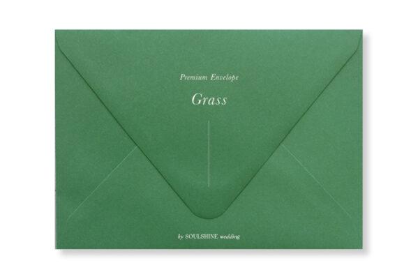 ซองการ์ดแต่งงาน สีเขียว แบบพรีเมียม ทรงยุโรป แบบมาตรฐาน ใส่การ์ดแต่งงานขนาด 5x7 4x6 4x9