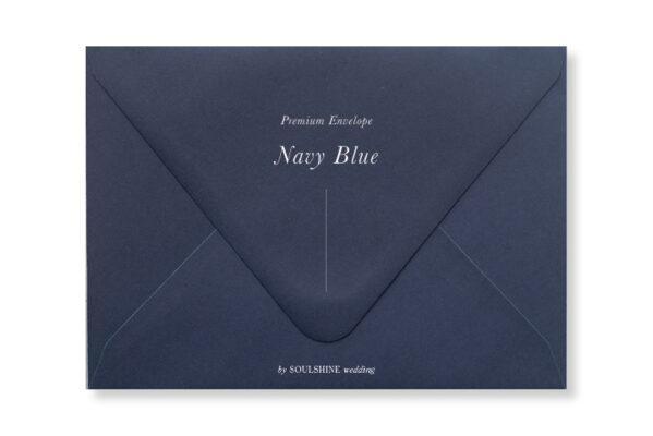 ซองการ์ดแต่งงาน สีน้ำเงิน เนวี่ กรมท่า Navy Blue แบบพรีเมียม ทรงยุโรป แบบมาตรฐาน ใส่การ์ดแต่งงานขนาด 5x7 4x6 4x9