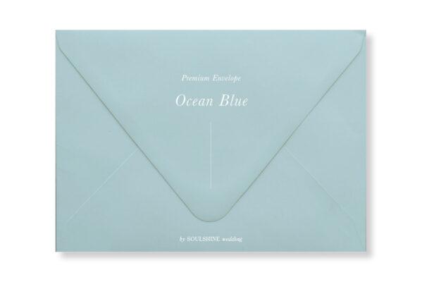ซองการ์ดแต่งงาน สีฟ้าอ่อน แบบพรีเมียม ทรงยุโรป แบบมาตรฐาน ใส่การ์ดแต่งงานขนาด 5x7 4x6 4x9