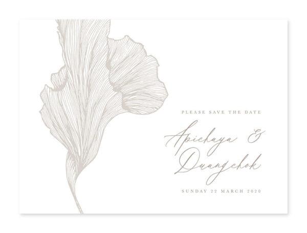 การ์ดแต่งงานหรูๆ ออกแบบการ์ดแต่งงาน การ์ดแต่งงาน minimal