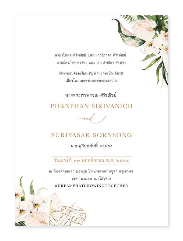 การ์ดแต่งงานหน้าหลัง การ์ดแต่งงานราคาถูก การ์ดแต่งงาน 5x7 4x6 4x9 นิ้ว