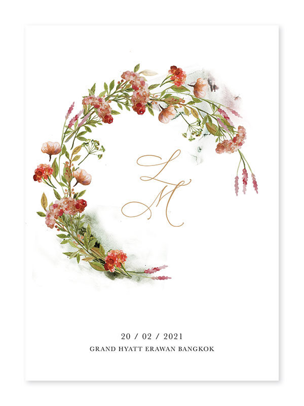 การ์ดแต่งงานหรูๆ การ์ดแต่งงาน 2020 การ์ดแต่งงาน minimal