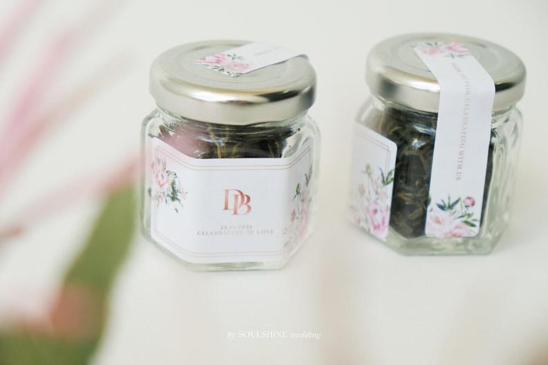 ของชำร่วย งานแต่ง ชาใบหม่อน ชาดอกไม้ ชากุหลาบ