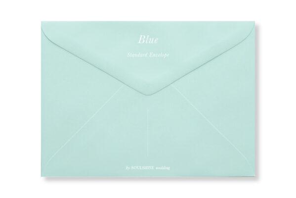 ซองการ์ดแต่งงาน สีฟ้า ใส่การ์ดแต่งงานขนาด 5x7 4x6 4x9