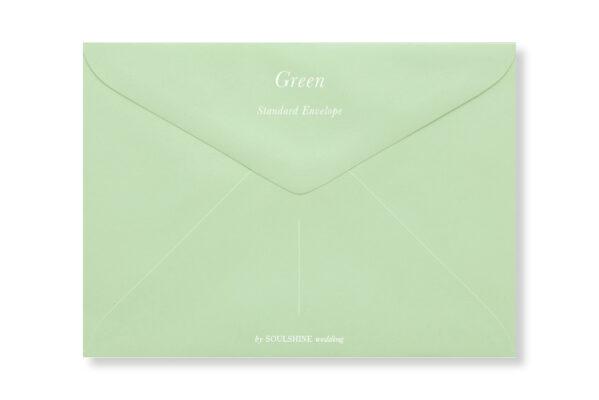 ซองการ์ดแต่งงาน สีเขียว ใส่การ์ดแต่งงานขนาด 5x7 4x6 4x9